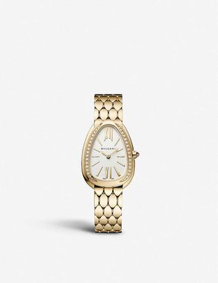 Bvlgari 103147 Serpenti Seduttori 18ct yellow-gold and diamond watch
