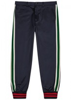 Gucci Navy Striped Cotton Twill Trousers
