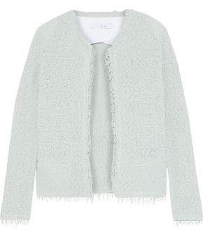 IRO Shavani Frayed Cotton-blend Boucle Jacket