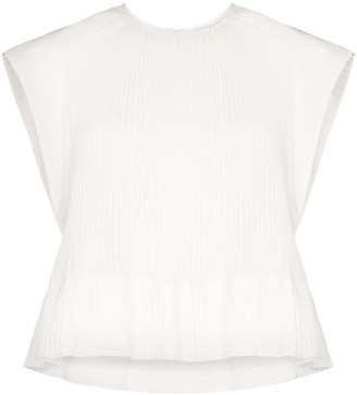 Tibi Ruffled Pleated Top