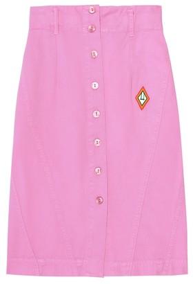 The Animals Observatory Sow cotton denim skirt