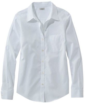 L.L. Bean Women's Wrinkle-Free Pinpoint Oxford Shirt, Long-Sleeve Relaxed Fit