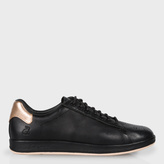 Paul Smith Women's Black Leather 'Rabbit' Sneakers With Gold Trims