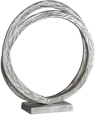 Sagebrook Home Metal Double Ring Sculpture