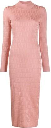 Fendi FF stretch fit longuette dress