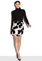 Milly Exclusive Couture Poppy Fil Coupe Modern Mini Skirt