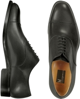 Moreschi Londra - Black Calfskin Cap Toe Oxford Shoes