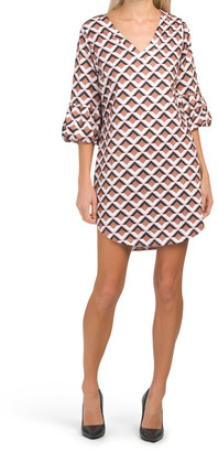 V-neck Printed Jersey Tunic Dress