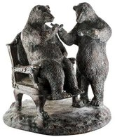 Maitland-Smith Brass Two-Bear Figurine