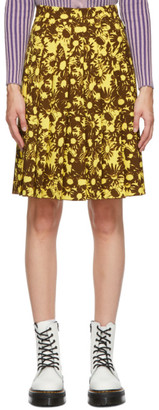 Marc Jacobs Yellow and Brown Heaven by Techno Skirt