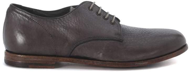 Moma Grey Washed Leather Lace Up Shoes