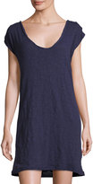 Knot Sisters Plunge-Neck Relaxed Tee Dress, Indigo