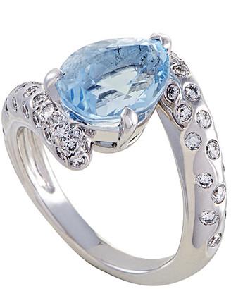 Chanel 18K White Gold 1.90 Ct. Tw. Diamond & Aquamarine Ring
