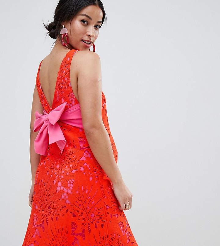 Asos Lace Overlay Dress