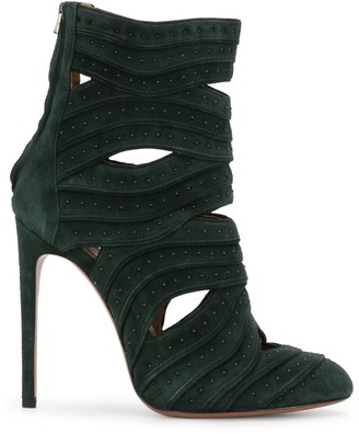 Alaïa Pre Owned Cut-Out Ankle Boots