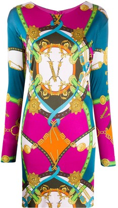 Versace Graphic Print Mini Dress
