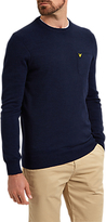 Lyle & Scott Pocket Detail Crew Neck Jumper, Navy