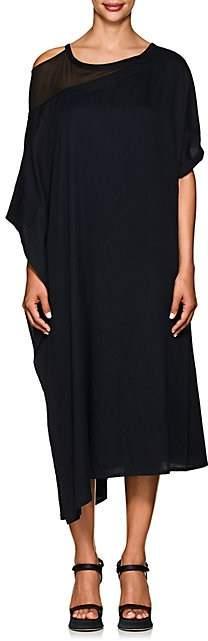 Yohji Yamamoto Women's Cotton Asymmetric Dress - Navy