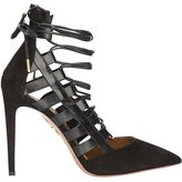 Aquazzura Amazon Strappy Cage Pump: Black