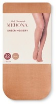 Merona Women's Pecan 20D Sheer Tights