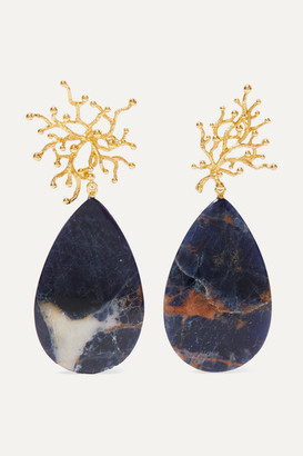 Pacharee - Pach Tach Gold-plated Sodalite Earrings