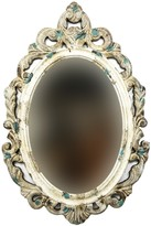 SAGEBROOK HOME Gold Carved Wood Frame Wall Mirror