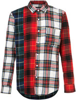 Stussy mixed tartan button down shirt