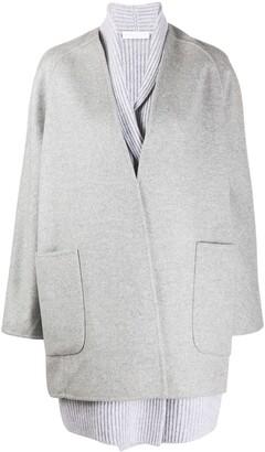 Fabiana Filippi Cashmere Draped Cardi-Coat