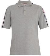 Moncler Gamme Bleu Contrast-collar Cotton-pique Polo Shirt - Mens - Grey