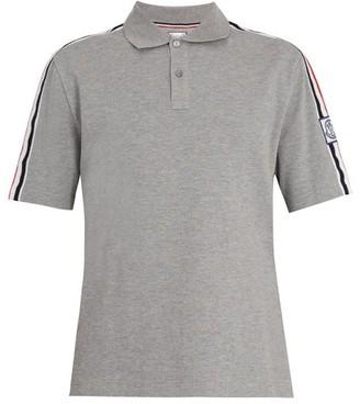 Moncler Gamme Bleu Contrast-collar Cotton-pique Polo Shirt - Grey