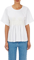 Chloé Women's Flower-Appliquéd Cotton T-Shirt-WHITE