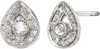 Sethi Couture Diamond Plume Stud Earrings