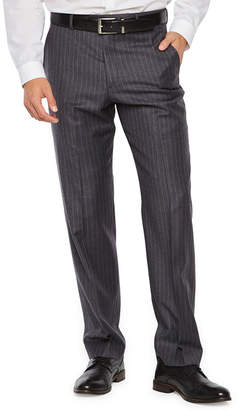 STAFFORD EXECUTIVE Stafford Executive Super100 Gray Chalk Stripe Classic Fit Suit Pants
