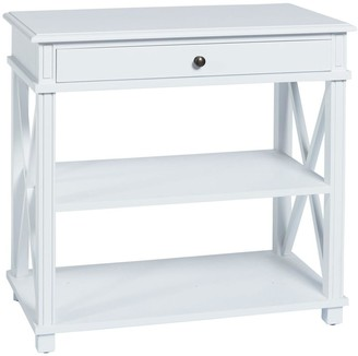 Sasson Home Manto Large Bedside Table White
