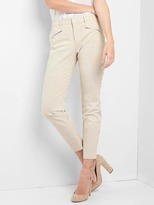 Gap Seersucker skinny ankle chinos