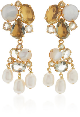 Bounkit 2-In-1 Amethyst, Pearl and Quartz Earrings