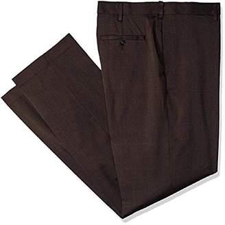 Savane Men's Flat Front Stretch Crosshatch Dress Pant