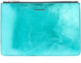 DSQUARED2 metallic colour block pouch - men - Leather - One Size