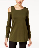 Alfani Asymmetrical Cold-Shoulder Sweater, Created for Macy's