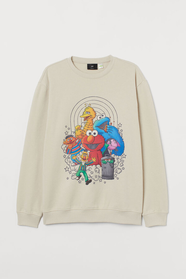 Thumbnail for your product : H&M Printed Sweatshirt - Beige