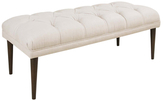 Skyline Furniture Tufted Linen Bench