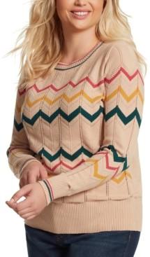 Jessica Simpson Trendy Plus Size Marcelina Striped Sweater