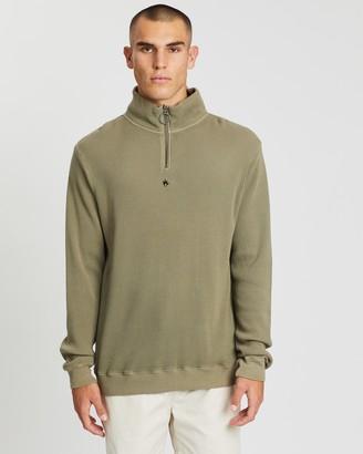 Afends Cooper Half Zip Crew Neck Sweater