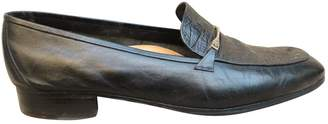 a. testoni Black Leather Flats