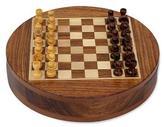Wood chess set, 'Circular Strategy'
