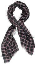 Forever 21 Plaid Frayed Oblong Scarf