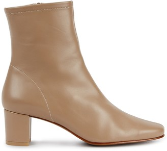 BY FAR Sofia 65 almond leather ankle boots