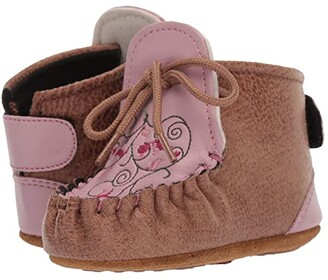 Old West Kids Boots Lily (Infant/Toddler) (Tan) Cowboy Boots