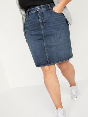 Old Navy Extra High-Waisted Secret-Slim Pockets Plus-Size Jean Skirt