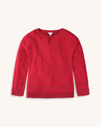 Splendid Girl Lurex Sweater Knit Top